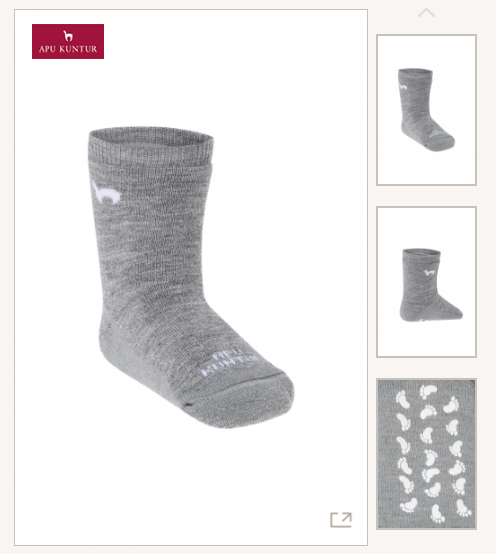 Alpaka Kinder ABS-Socken