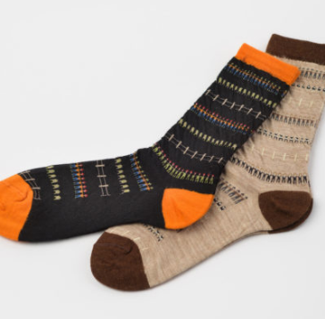 The Village Jacquard Socks